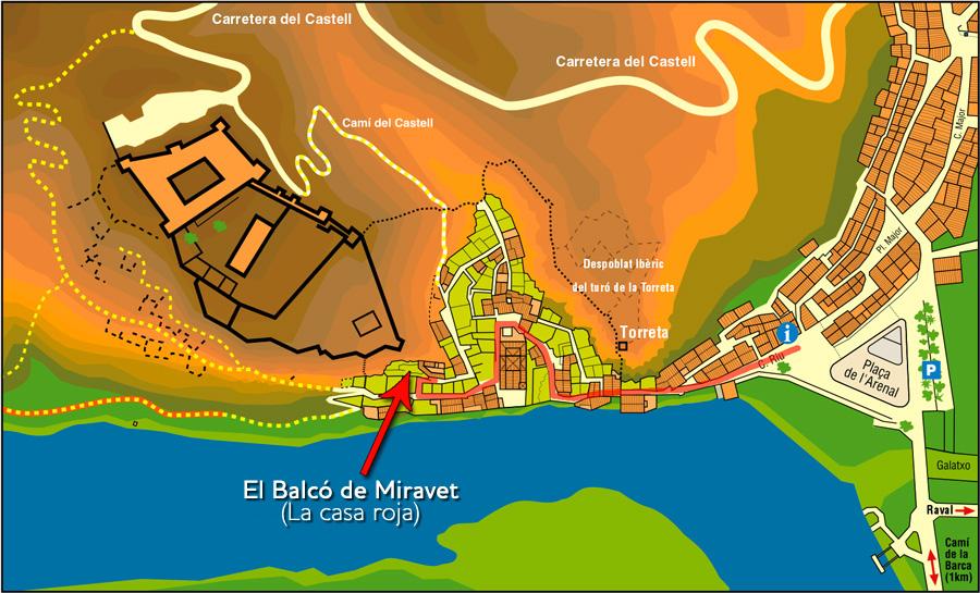 El Balcó de Miravet (ubicación)