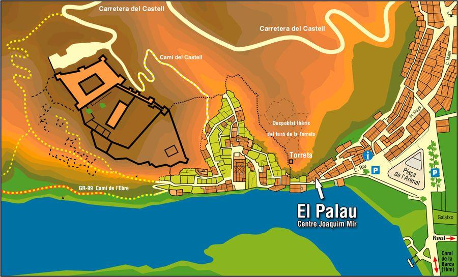Palau de Miravet (mapa)